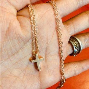 Fancy necklace cross